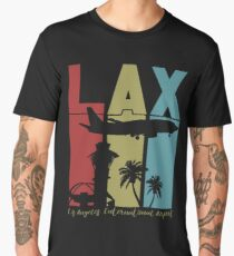 LAX Los Angeles Int'l Airport Retro Art Men's Premium T-Shirt