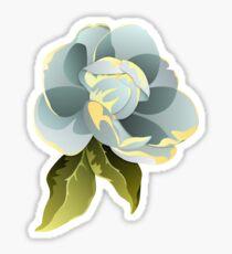 Magnolien-Blüte mit Blatt-Grafik Sticker