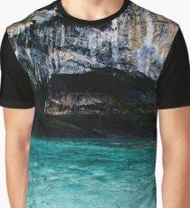 Island Sea Cave Graphic T-Shirt