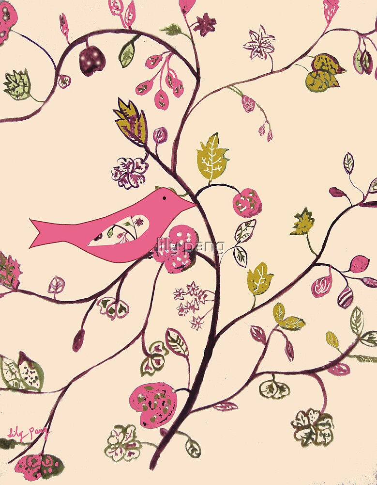 Bird in Batik Style by lily pang