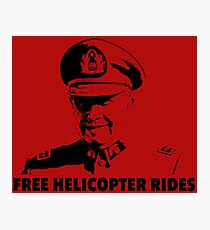 Free Helicopter Rides Photographic Print