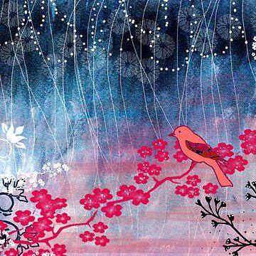 Pink Bird by lilypang