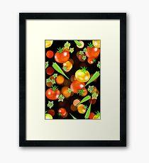 Hot tomatoes tossed veggies Framed Print