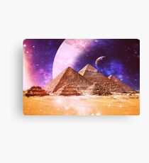 Space Pyramids Canvas Print