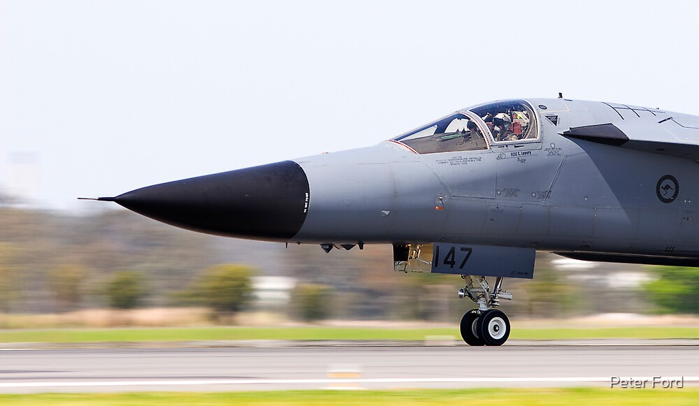 RAAF F-111 at take off by Peter Ford