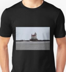 Mentor Headlands Lighthouse in Winter T-Shirt
