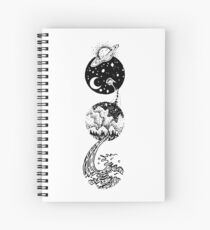 Star Dust to Sea Foam Spiral Notebook