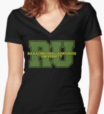 Raxacoricofallapatorius University Women's Fitted V-Neck T-Shirt