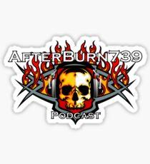 AfterBurn739 Podcast Sticker Sticker