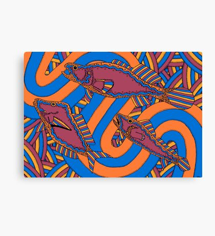Aarli - (school of fish) barrgan season (winter)  Canvas Print