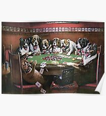 Dogs Playing Poker - Poker Sympathy Poster