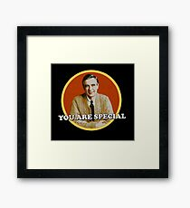 fred rogers - grew up and fled as soon as he could, where Framed Print
