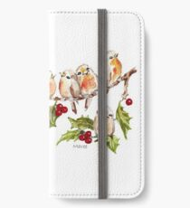 Season's Greetings!  7 Little Birds iPhone Wallet/Case/Skin