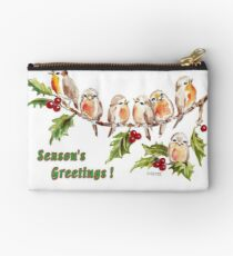 Season's Greetings!  7 Little Birds Studio Pouch