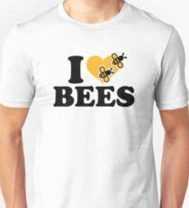 I love bees Slim Fit T-Shirt