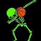 Halloween-Tupfen-Skelett BASKETBALL T-Shirt Skelett-Tupfen von vomaria