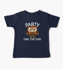 Party Owl The Time  Baby Tee