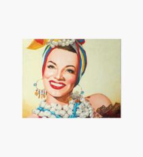 Painting of Carmen Miranda  Art Board
