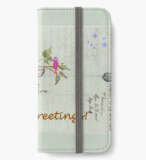Season's Greetings - Birds Singing With Joy iPhone Wallet/Case/Skin