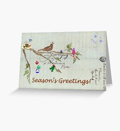 Season's Greetings - Birds Singing With Joy Greeting Card