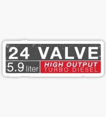 24 Valve High Output Diesel Truck Sticker