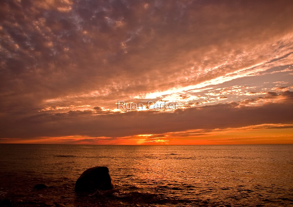 Sunset at Hallett Cove by Ryan Carter