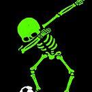 Halloween, das Skeleton Fußball-T-Shirt Skeleton Abtupfen abtastet von vomaria
