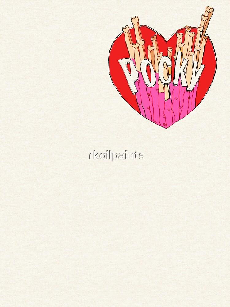 Strawberry Pocky Illustration by rkoilpaints