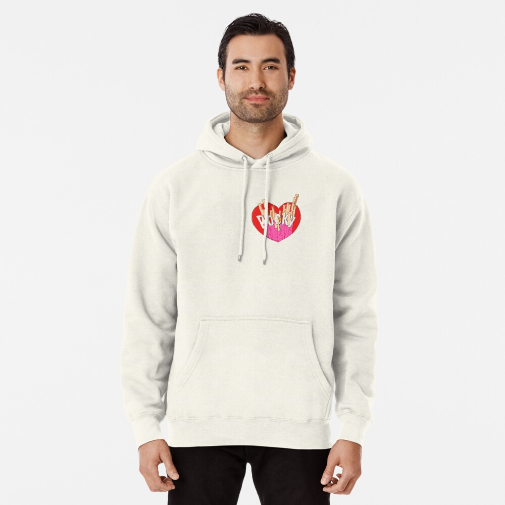 Strawberry Pocky Illustration Pullover Hoodie