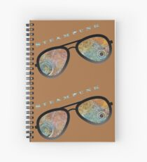 STEAMPUNK SUNGLASSES  Spiral Notebook