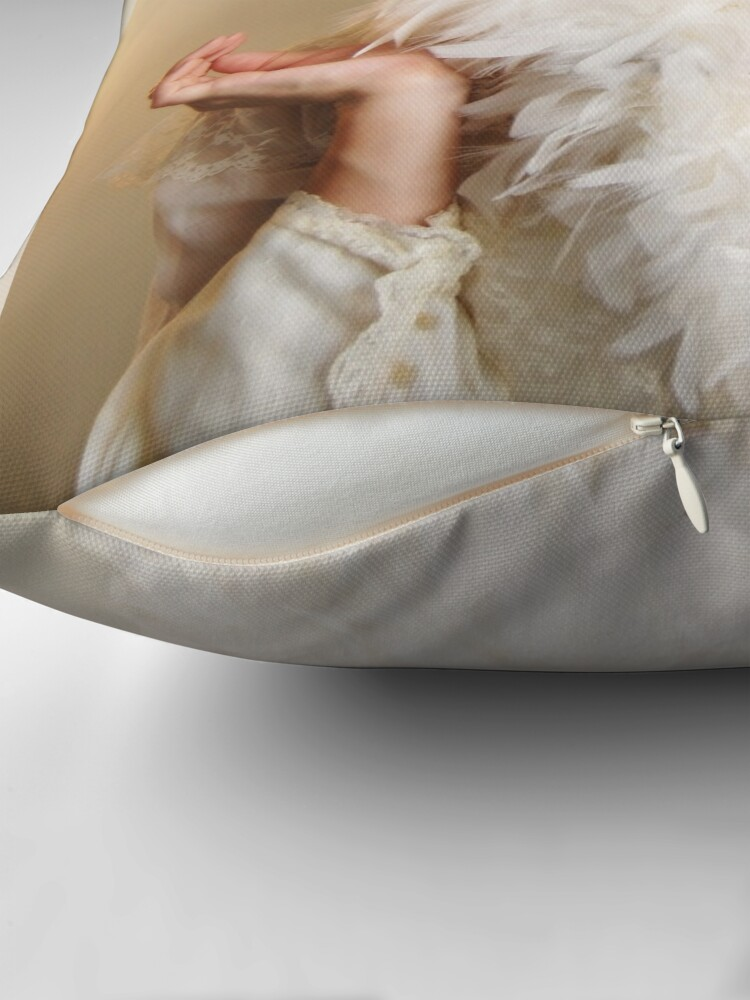 Alternate view of The Swan Maiden Throw Pillow