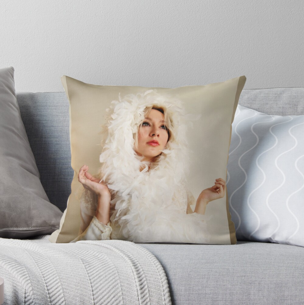 The Swan Maiden Throw Pillow