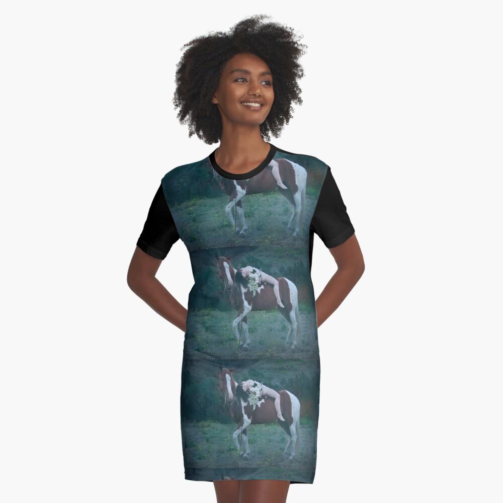 Where Dreams and Shadows Lie Graphic T-Shirt Dress