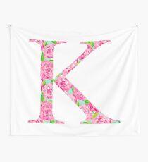 Lilly Pulitzer Rose Design K Kappa Wall Tapestry