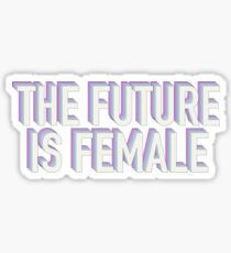 The Future is Female Purple and Blue Sticker