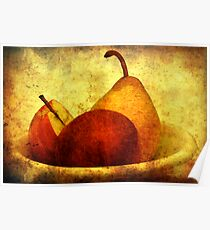 Apples with pear Poster