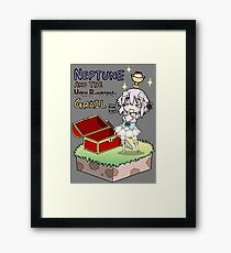NEPTUNE AND THE HOLY PUDDING GRAIL Framed Print