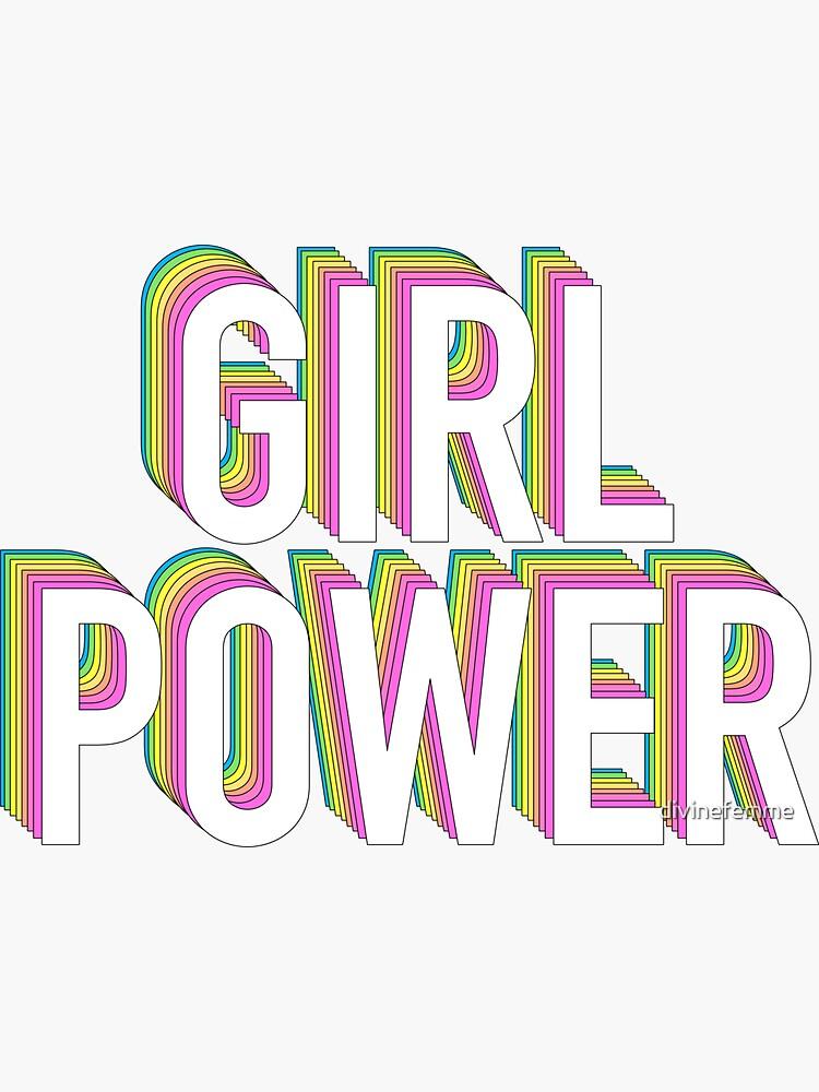 Mädchen Power Neon Regenbogen von divinefemme