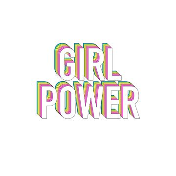 Girl Power Neon Rainbow de divinefemme