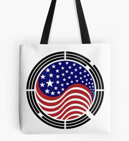 Korean American Multinational Patriot Flag Series Tote Bag