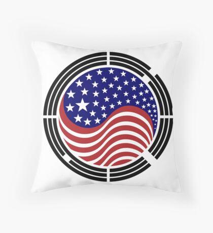 Korean American Multinational Patriot Flag Series Throw Pillow