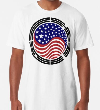 Korean American Multinational Patriot Flag Series Long T-Shirt