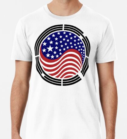 Korean American Multinational Patriot Flag Series Premium T-Shirt