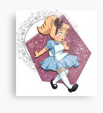 Angie in Wonderland Metal Print