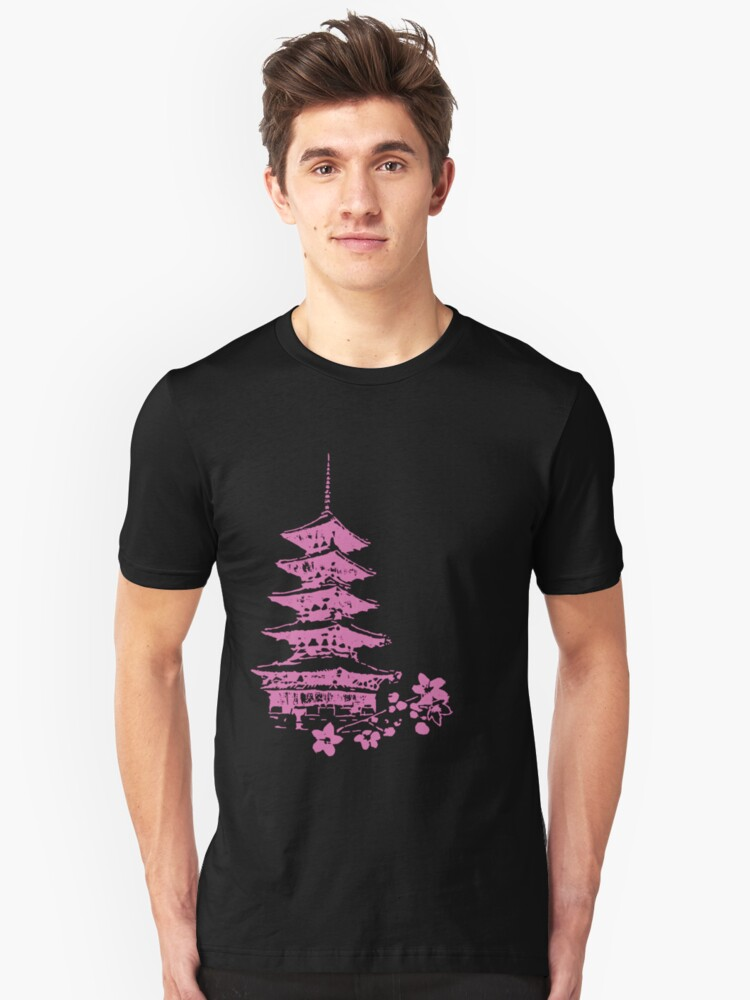 Pink Pagoda Unisex T-Shirt Front