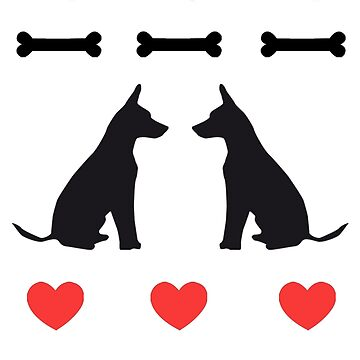 Dogs with Hearts and Bones by DesignWorlds