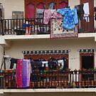 Thimphu Bhutan Apartment Washing Day by Deirdreb