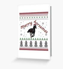Horse Christmas Women Men Mom Kids Girls Boys Greeting Card
