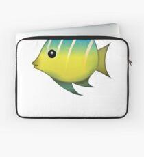 Cute Pretty Tropical Fish Emoji Laptop Sleeve