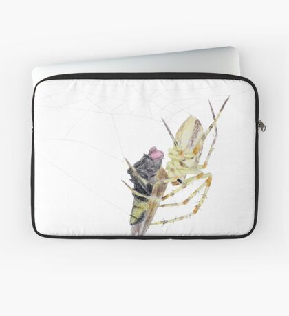Spider caught a fly Laptop Sleeve
